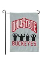 Ohio State University O-H-I-O People Silhouette Garden Flag