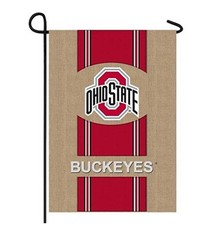 Ohio State University Burlap Flag