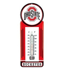 "Ohio State University 12"" Metal Thermometer"
