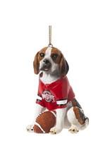 Ohio State University Beagle Ornament