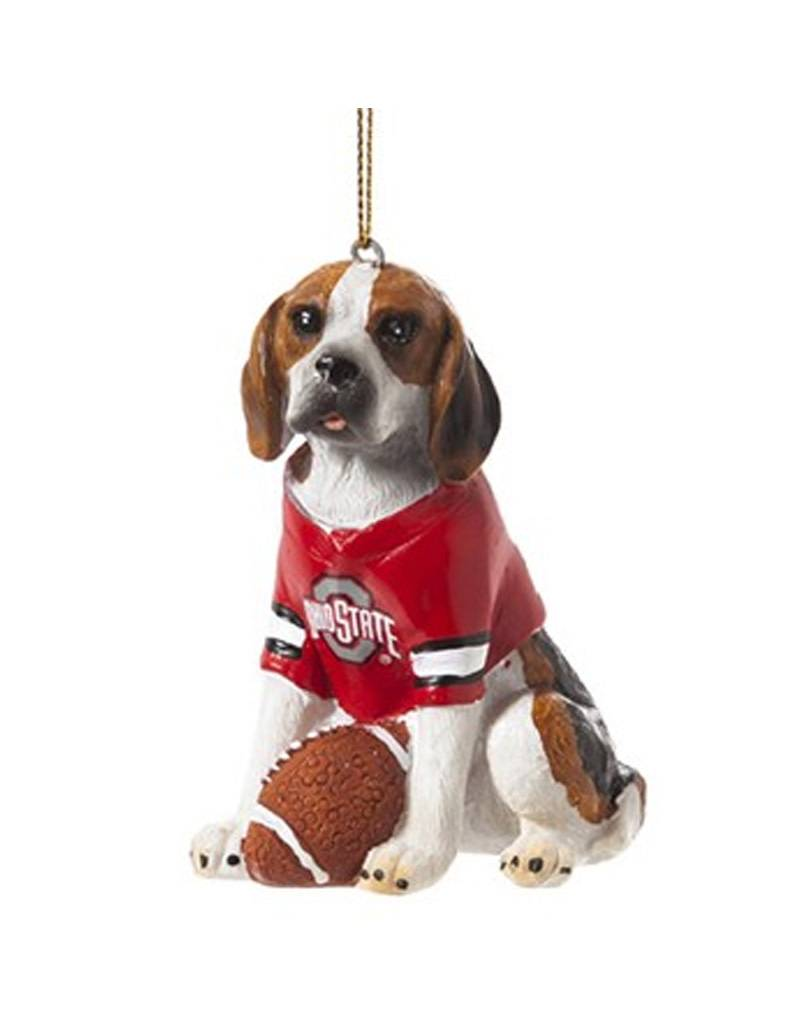 Ohio State University Beagle Ornament