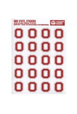 Ohio State University Block O Logo Sticker Set