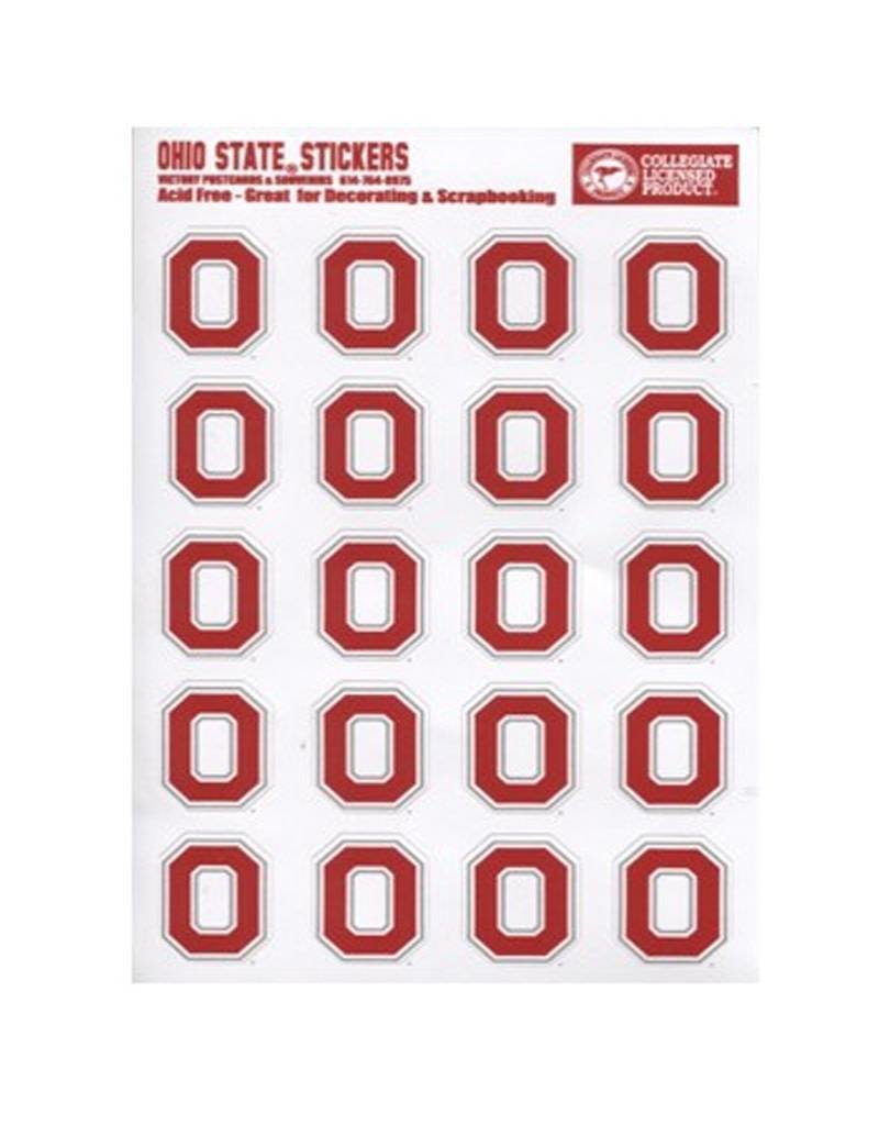Ohio State University Block O Logo Sticker Set