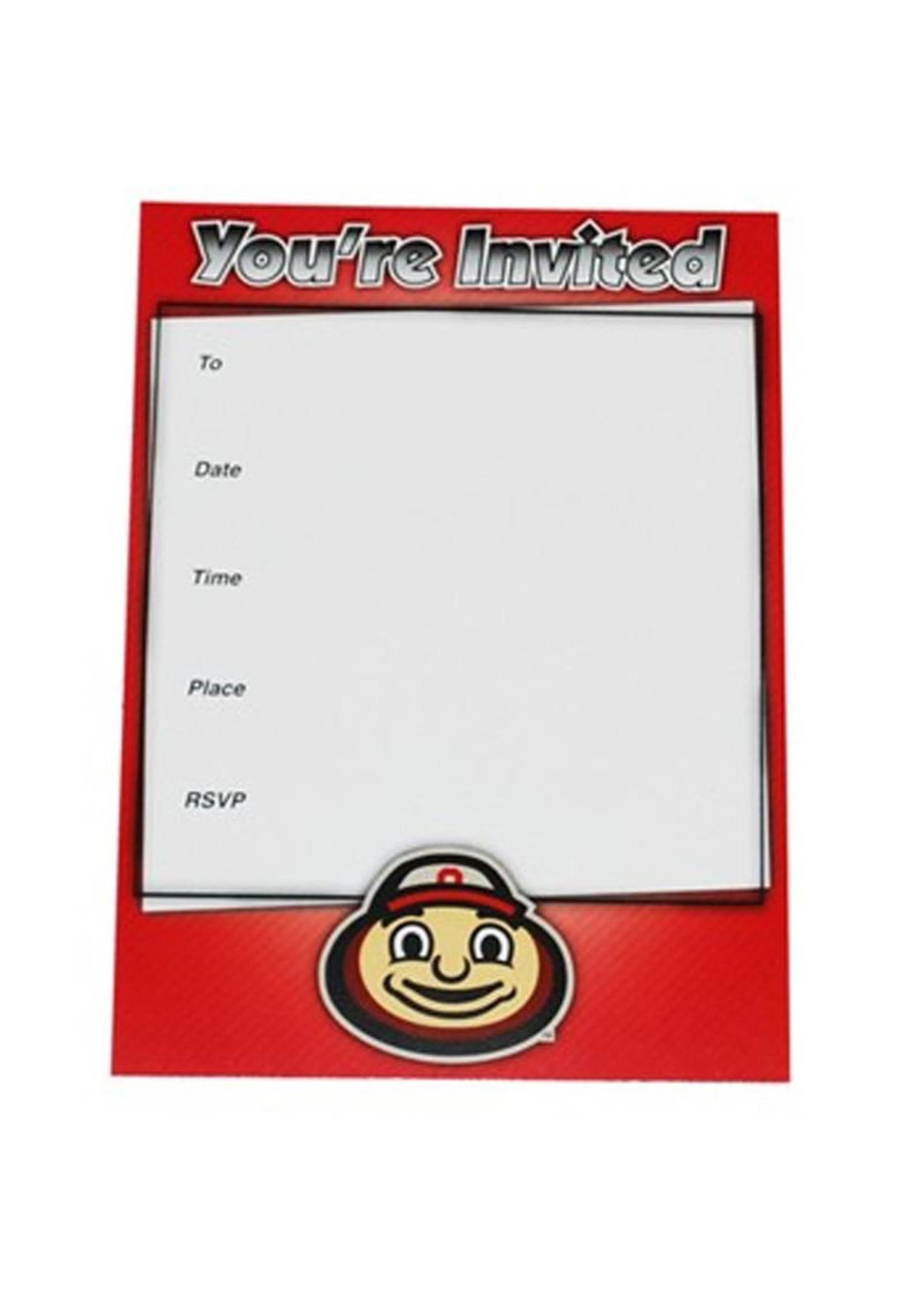 Ohio State University Fanatic Cards Invitation Set