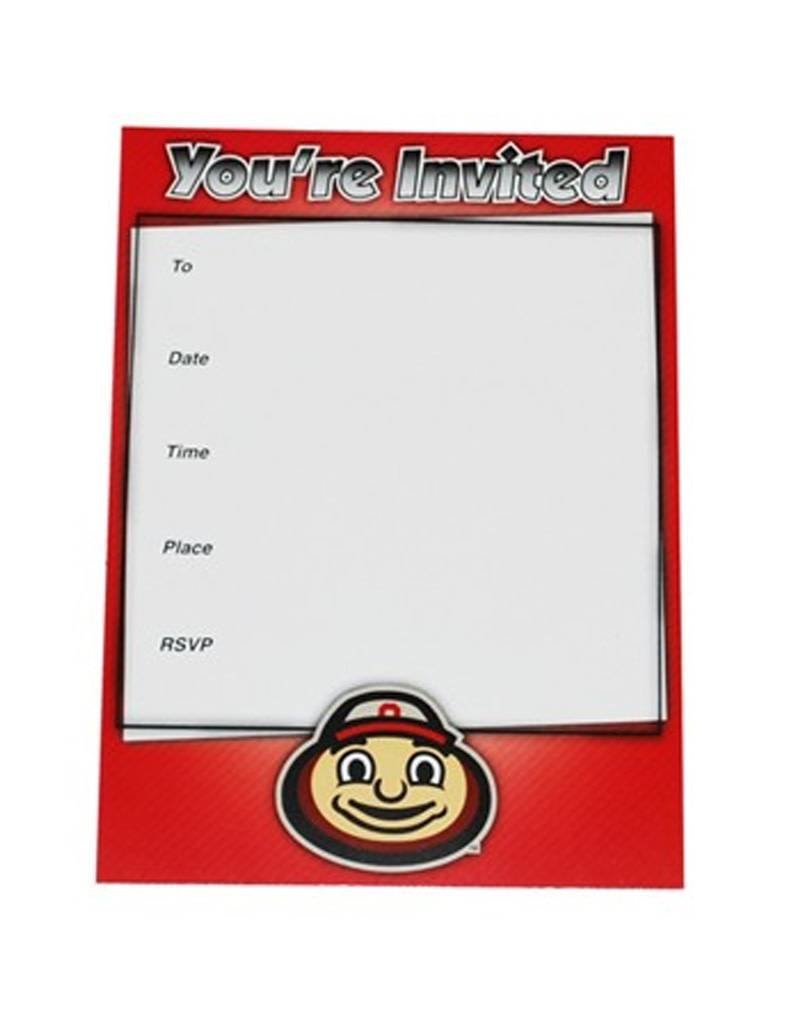 Ohio State University Fanatic Cards Invitation Set