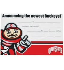 Ohio State University Baby Buckeye Announcement Cards