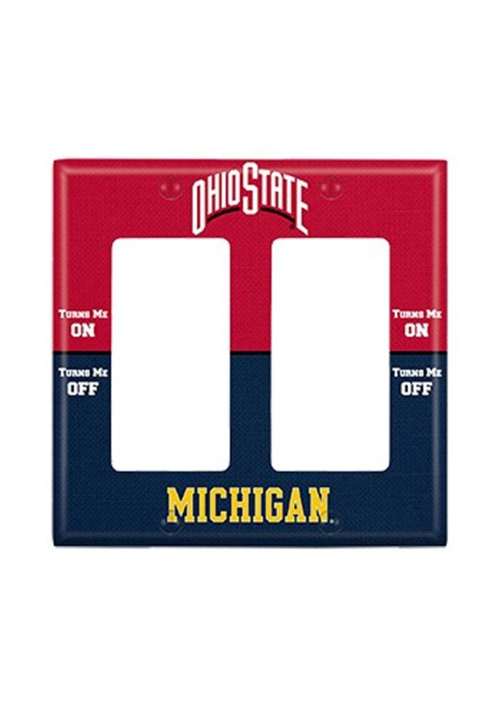 Ohio State vs Michigan Double Rocker Light Switch Cover