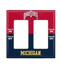 Ohio State vs Michigan Double Rocker Light Switch Cover