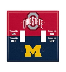 Ohio State University Rivalry Double Toggle Light Switch Cover