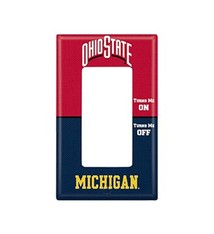 Ohio State University Rivalry Single Rocker Light Switch Cover