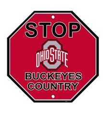Ohio State University Buckeyes Country Stop Sign