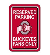 Ohio State University Reserved Parking Sign