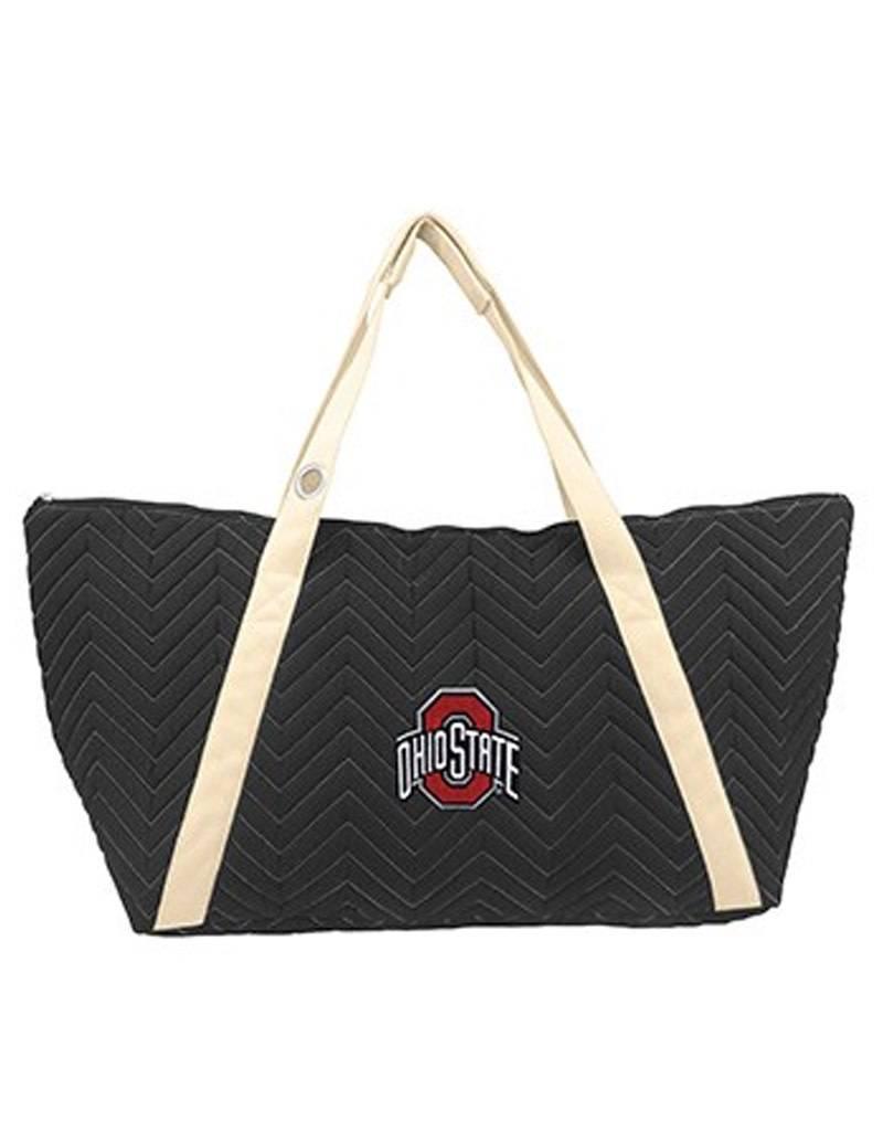 Ohio State University Chevron Stitched Weekender Bag