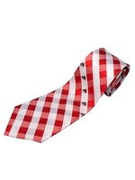 Ohio State University Woven Polyester Check Tie