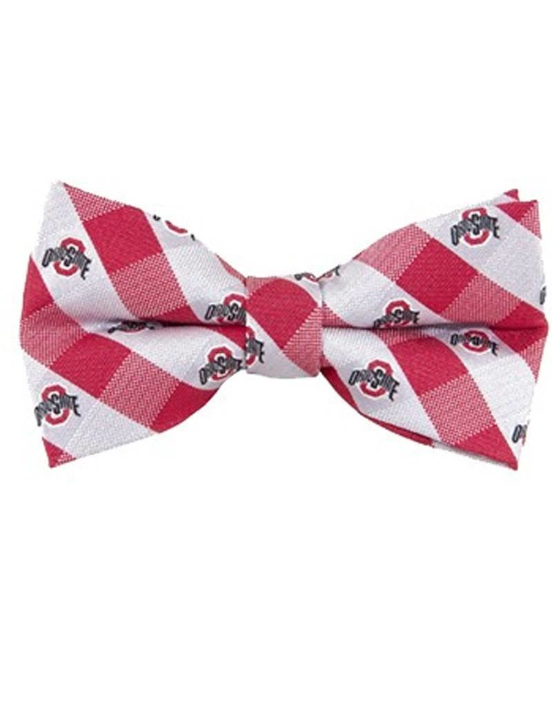 Ohio State University Check Woven Bow Tie