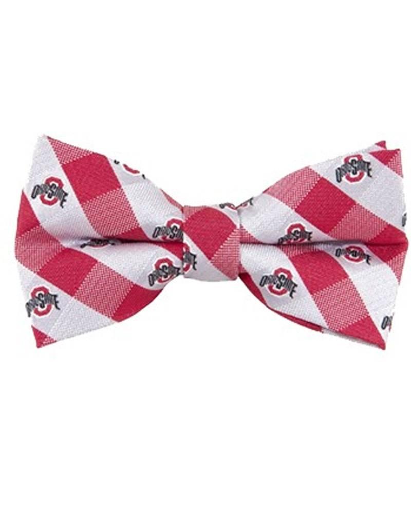 Ohio State University Check Woven Bow Tie
