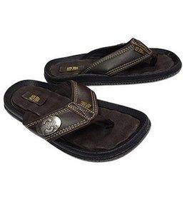 Ohio State University Men's Athletic O Concho Leather Sandals