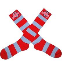 Ohio State University Striped Rugby Dress Socks