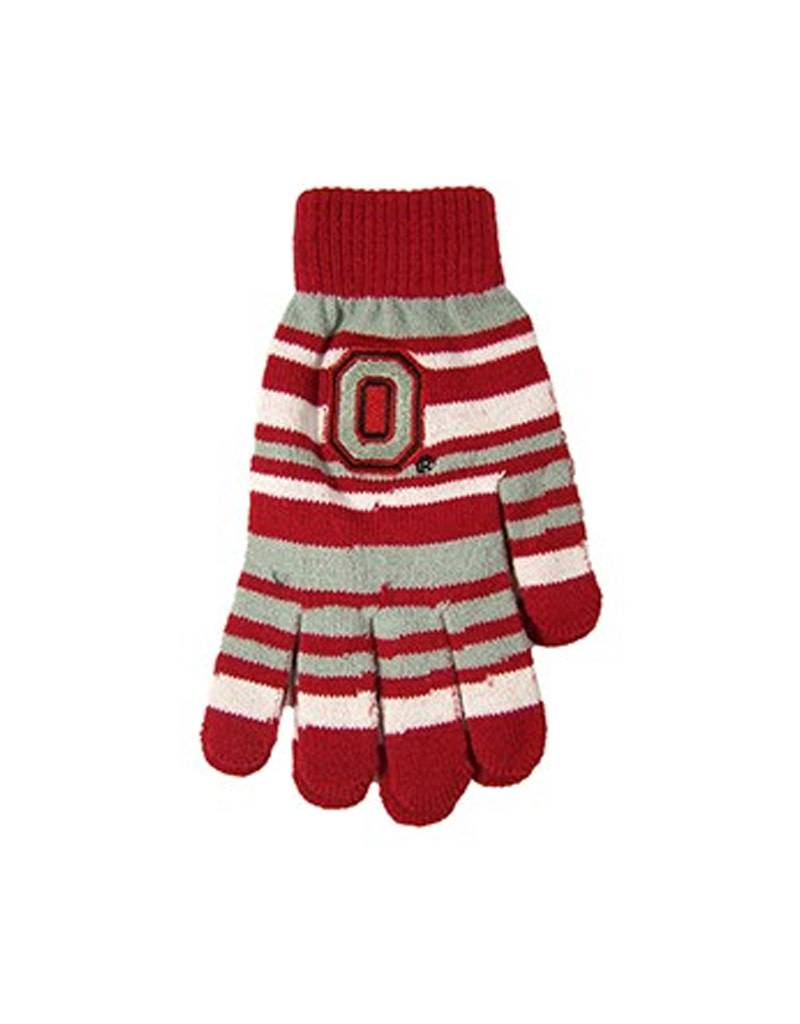 Forever Collectibles Ohio State University Stripe Stretch Gloves