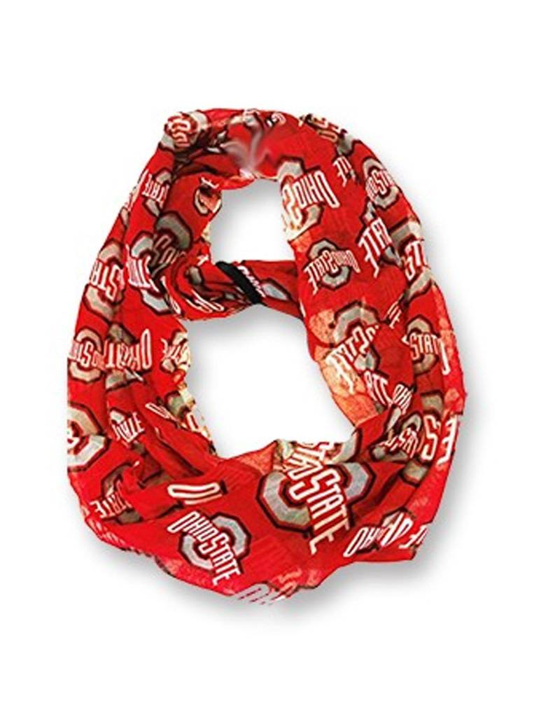 Forever Collectibles Ohio State University Athletic O Infinity Scarf