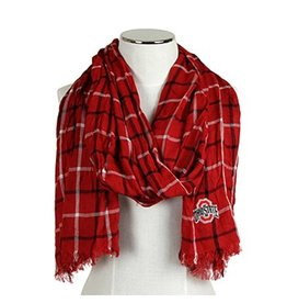 Ohio State University Window Pane Scarf