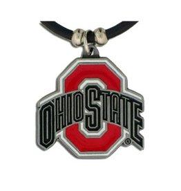 Ohio State University Rubber Cord Necklace