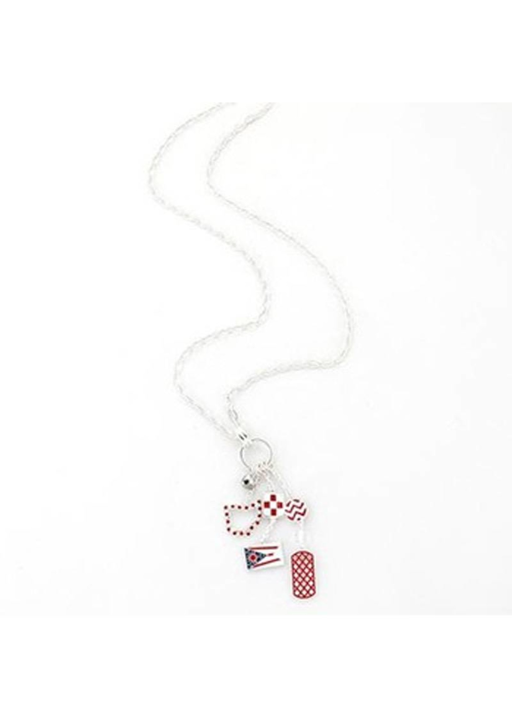 Ohio Cluster Flag Necklace