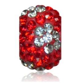 Sparkle Life Bright Red & Silver Flower Sparklie