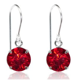Goddess Co. Bright Red Crystal Drop Earrings