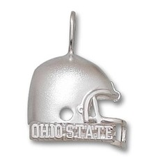 "Ohio State University Sterling Silver 5/8"" Ohio State Football Helmet Pendant"