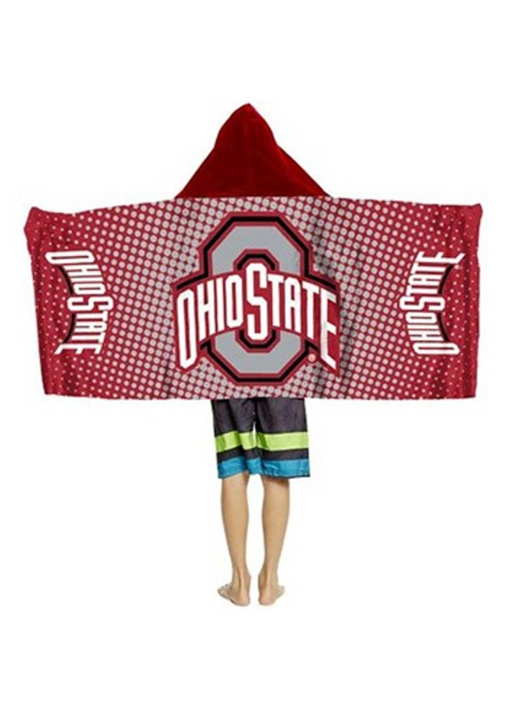 Ohio State University Youth Hooded Towel Wrap