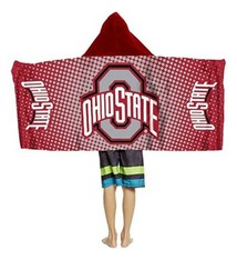 Ohio State University Youth Hooded Towel Wrap