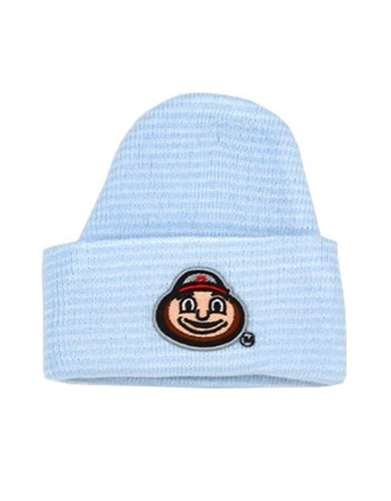 Striped knit baby cap everything buckeyes jpg 800x1024 Ohio university knit  hat c963ab4b9303