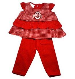 Ohio State University Ruffle Shirt and Pants Set