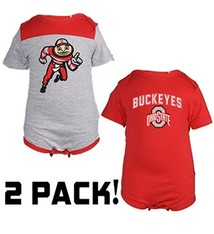 Ohio State University Tommy Onesie 2 Pack