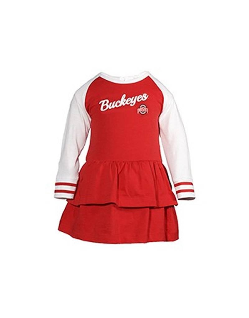 Ohio State University Infant Kacey Long Sleeve Dress