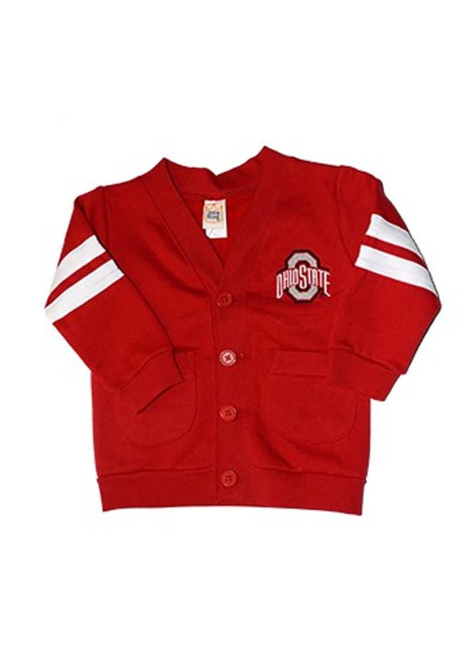 Ohio State University Toddler Striped Cardigan
