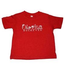 Ohio State University Rabbit Skin Script Toddler Tee