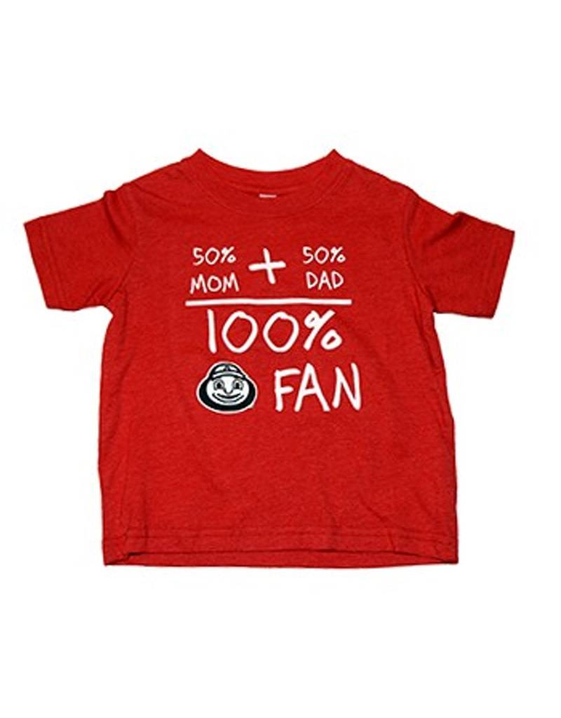 Ohio State University 50% Mom + 50% Dad = 100% Fan Toddler Tee