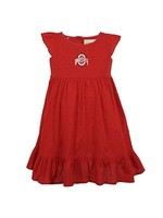 Ohio State University Scarlet Toddler Dress