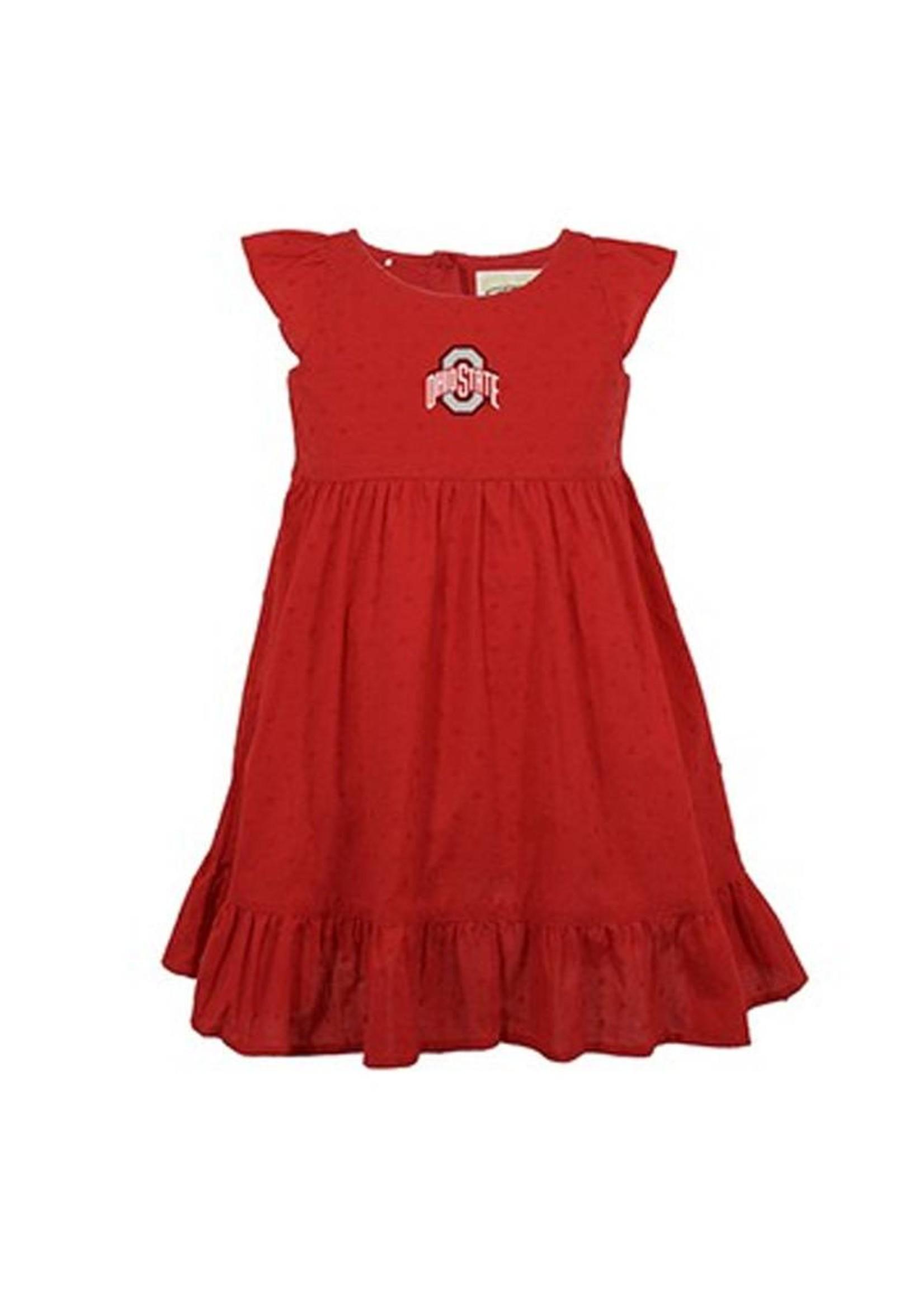 Ohio State University Scarlet Toddler Dress