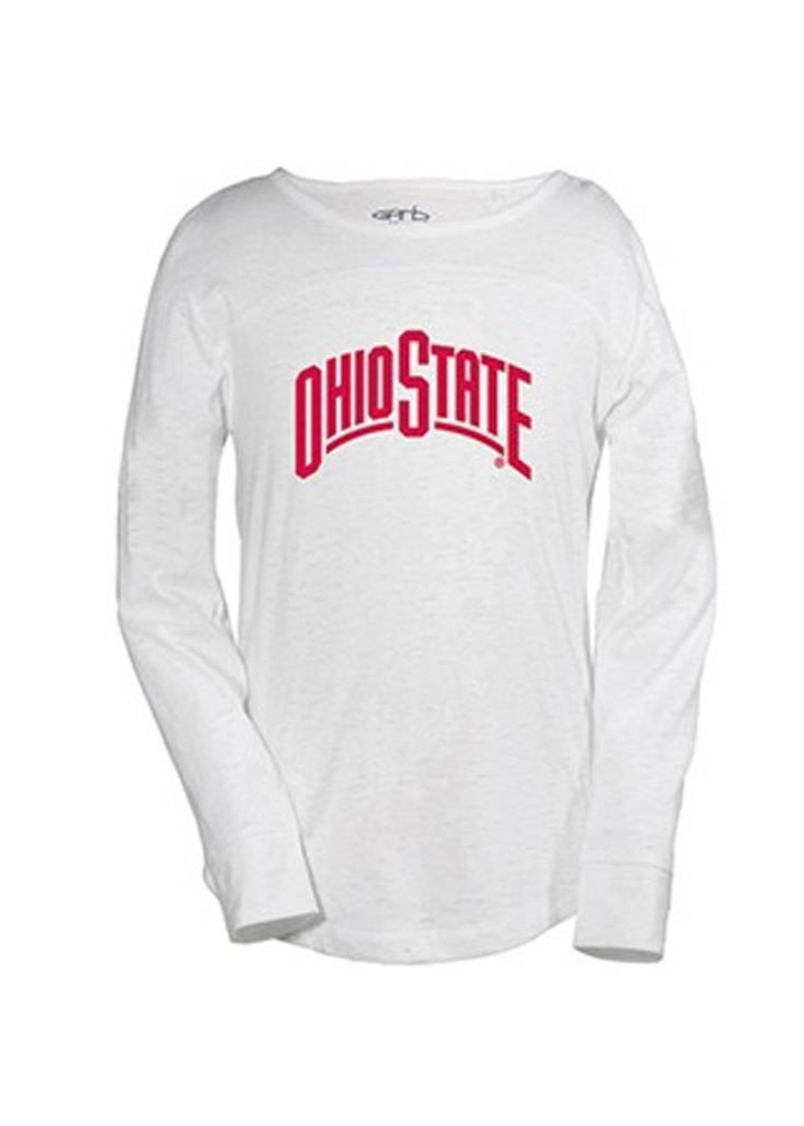 Ohio State University Youth Tobin Arch Lettering Long Sleeve Tee