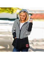"Gameday Couture Ohio State University ""On The Move"" Striped Packable Rain Jacket"