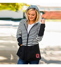 "Gameday Couture Ohio State University ""On The Move"" Striped Packable Jacket"