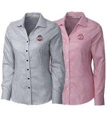 Cutter & Buck Ohio State University Women's Epic Easy Care Tattersall