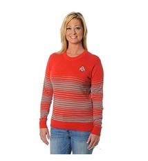 Ohio State University Striped Sweater