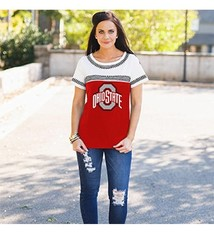 Gameday Couture Ohio State University Catch You Later Embroidered Tee