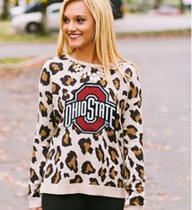 Gameday Couture Ohio State University Women's Leopard Sweater