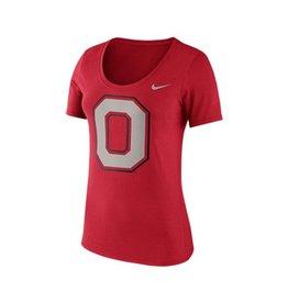Nike Ohio State University Short Sleeve Block O Scoop Neck