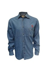 Top of the World Ohio State University Women's Chambray Button Up Long Sleeve Shirt